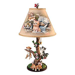 "Jürgen Scholz ""Country Kitties"" Accent Lamp"