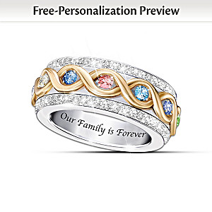 """""""Family Is Forever"""" Birthstone Spinning Ring"""