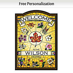 """""""Canadian Provincial Flowers"""" Personalized Welcome Sign"""