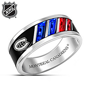 """""""The Pride Of The Canadiens®"""" Rhodium-Plated Men's Ring"""
