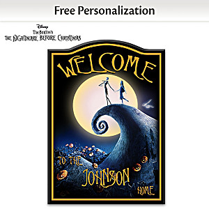 """""""The Nightmare Before Christmas"""" Personalized Welcome Sign"""