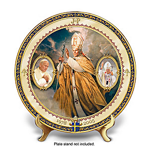 Saint John Paul II Commemorative Porcelain Collector Plate