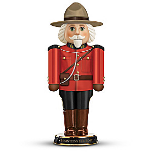 The RCMP Red Serge Mountie Heirloom Porcelain Nutcracker