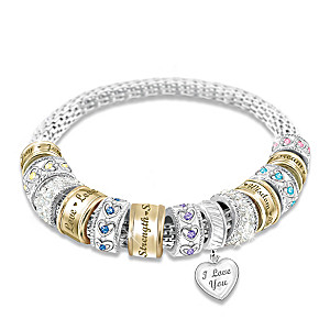"""""""Message from the Heart"""" Beaded Bracelet For Daughters"""