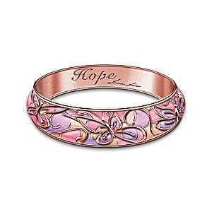 "Lena Liu ""Garden Of Hope"" Breast Cancer Awareness Bracelet"