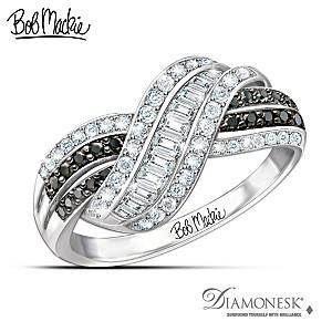 "Bob Mackie ""Night And Day"" Diamonesk Simulated Diamond Ring"