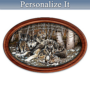 """""""Family Treasures"""" Collector Plate With Your Family Name"""