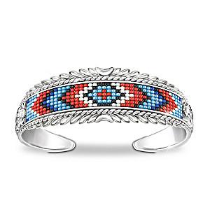 """Mesa Verde"" Women's Beaded Cuff Bracelet"