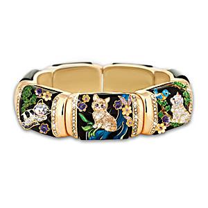 """Sophisticat"" Stretch Link Women's Cat Bracelet"