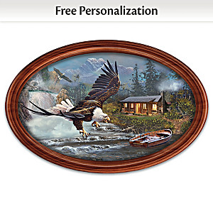 """Ted Blaylock """"Majestic Retreat"""" Plate With Your Family Name"""