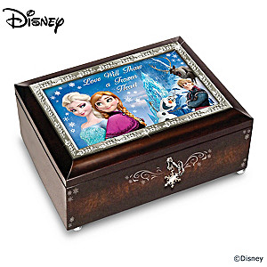 Disney FROZEN Mahogany-Finished Heirloom Music Box