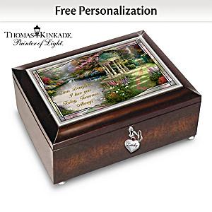 Thomas Kinkade Illuminated Personalized Daughter Music Box