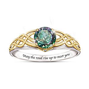 """For The Love Of Ireland"" Mystic Topaz Women's Ring"