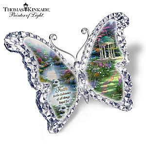 "Thomas Kinkade ""Faith"" Butterfly Sculpture"