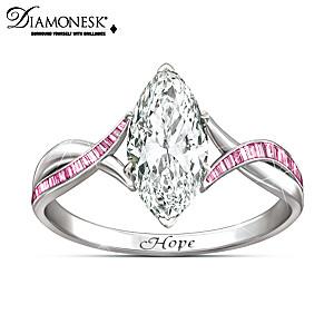 "Breast Cancer Support ""Shimmering Hope"" Ring"