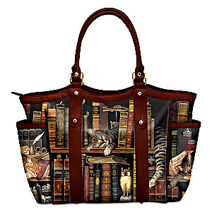 """Charles Wysocki """"Classic Tails"""" Tote Bag With Cat Artwork"""
