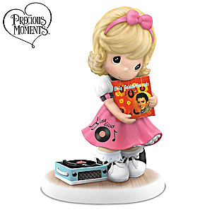 """Precious Moments """"I'll Never Let You Go"""" Elvis Fan Figurine"""