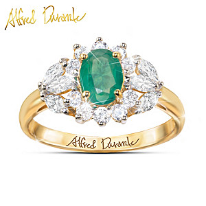 """Alfred Durante """"Versailles"""" Emerald And White Topaz Ring"""