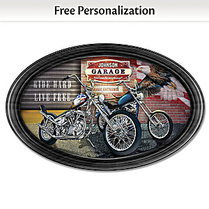 """""""Freedom Rider"""" Framed Collector Plate With Your Family Name"""