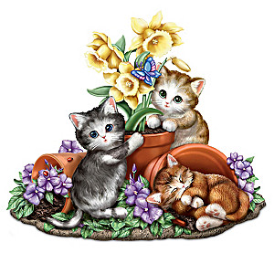 "Kayomi Harai ""Summer's Sunny Flowers"" Cat Sculpture"