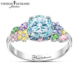 "Thomas Kinkade ""Colours Of Inspiration"" Women's Floral Ring"