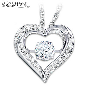 Always In My Heart Brilliant Motions Granddaughter Necklace