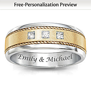 """Timeless Love"" Personalized Men's Diamond Ring"