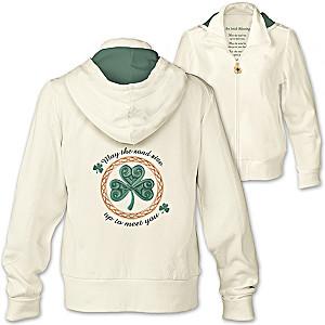 """An Irish Blessing"" Women's Designer-Style Hoodie"