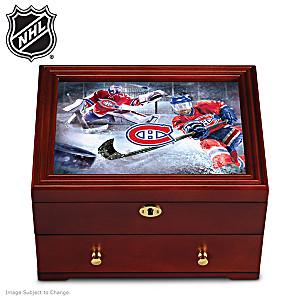 Montreal Canadiens® Custom-Crafted Wooden Keepsake Box