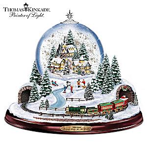 Thomas Kinkade Village Snowglobe: Lights, Music and Motion