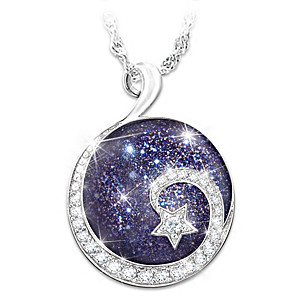 """""""Daughter Reach For The Stars"""" Pendant Necklace"""