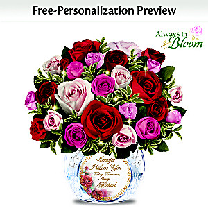 """""""Today, Tomorrow, Always"""" Personalized Handmade Rose Bouquet"""
