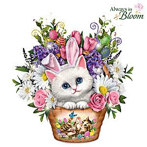Kayomi Harai Always In Bloom Kitty Cat Table Centerpiece
