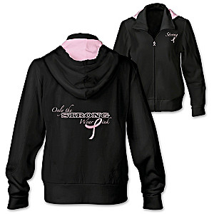"""""""Only The Strong Wear Pink"""" Women's Hoodie"""
