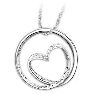 """Forever In My Heart"" Diamond Infinity Pendant For Daughter"