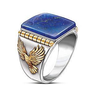 """Untamed Freedom"" Blue Lapis Men's Ring"