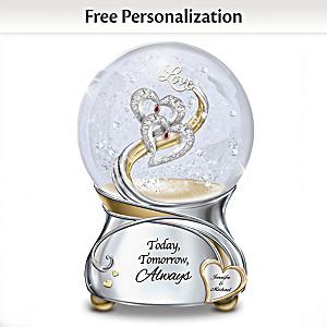"""Today Tomorrow Always"" Personalized Musical Glitter Globe"