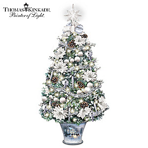 "Thomas Kinkade ""Winter Splendour"" Illuminated Tabletop Tree"