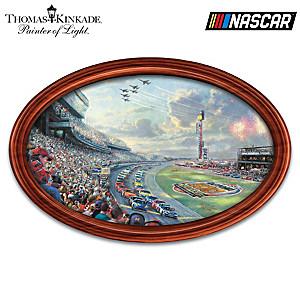 """Thomas Kinkade """"NASCAR Thunder"""" Wall Decor With Lights"""