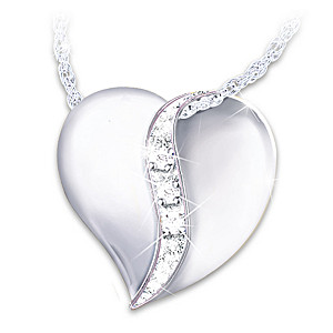 """""""Cherished By Us All"""" Diamond Necklace For Daughter-In-Law"""