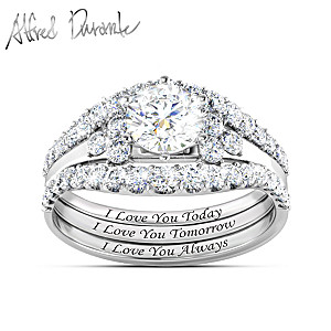 """Alfred Durante """"I Love You Always"""" Topaz Stacking Ring"""