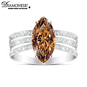 """""""Diva"""" Women's Ring With Over 4 Carats Of Diamonesk Stones"""