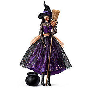 """""""Serena"""" Witch Doll With Poseable Head and Arms"""