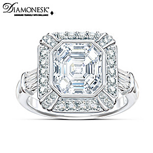 """""""Regal Elegance"""" Asscher-Cut Diamonesk Ring"""