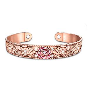 """""""Nature's Healing Beauty"""" Women's Solid Copper Cuff Bracelet"""