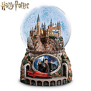 Hogwarts Express Illuminated Musical Globe With Moving Train