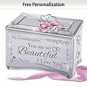 """""""Granddaughter, You Are So Beautiful"""" Personalized Music Box"""