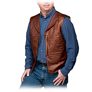 John Wayne-Inspired Leather And Suede Men's Vest