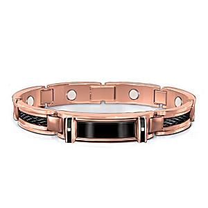 Nature's Healing Strength Men's Copper And Diamond Bracelet