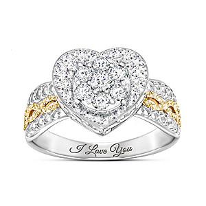 """All My Love"" Women's Heart-Shaped Diamond Ring"